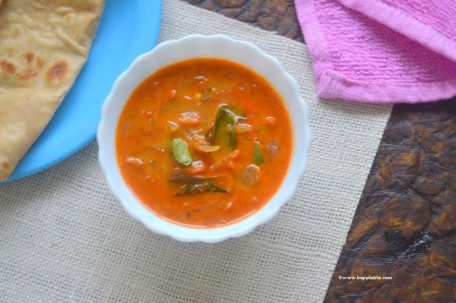 Kerala Style Tomato Curry Recipe  | Nadan Thakkali Curry