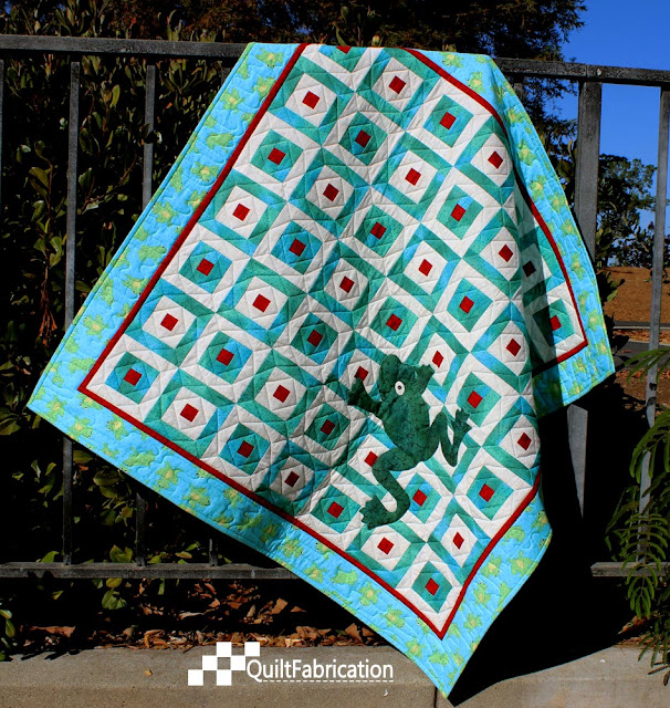 Hoppy quilt in green