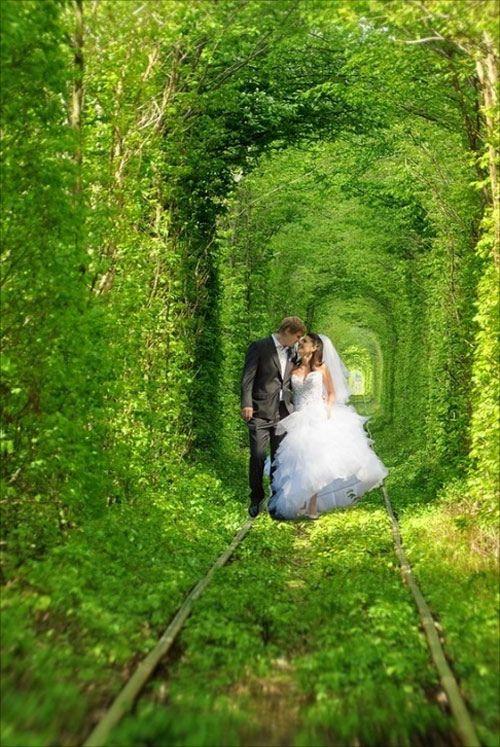 Sitio Espectacular Romántico, El Túnel del Amor, Klevan, Ucrania 1