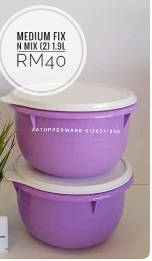 Tupperware Medium Fix N Mix (2) 1.9L