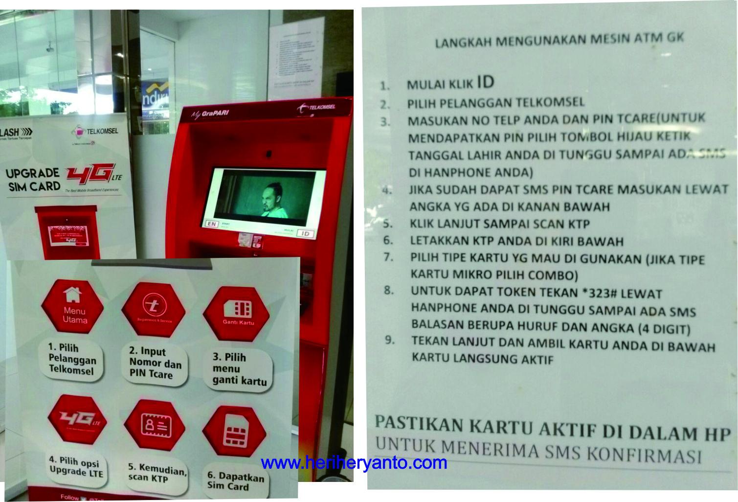 Cara Dan Biaya Upgrade Kartu Sim 4g Telkomsel Menggunakan Mesin Upgrade Otomatis Heri Heryanto