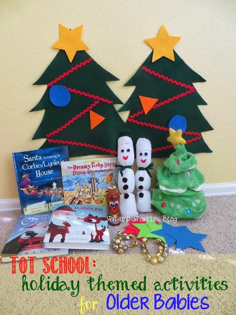 DIY holiday-themed activities for older babies #totschool #earlylearning #homeschool #DIY