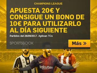 betfair apuesta 20 euros y consigue bono 10 euros champions 17 octubre