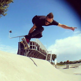 Mark Jansen Skateboarding Adelaide West Beach Grab