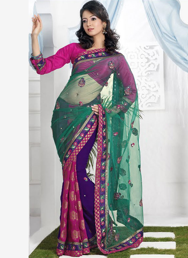 Blouse Embroidery Designs For Silk Sarees