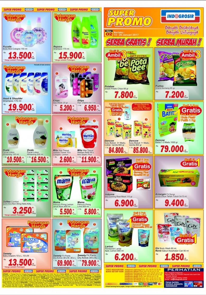 Katalog INDO GROSIR Super Promo Periode 13 - 26 Januari 2017