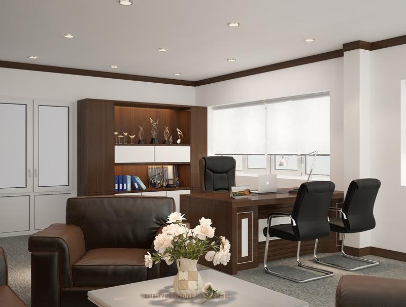 Thiết kế nội thất phòng giám đốc sang trọng