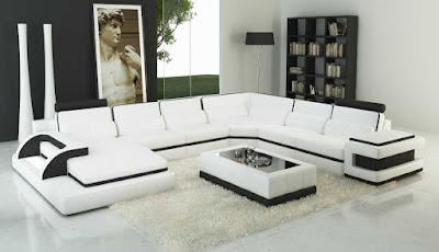 black and white sofa set designs for modern living room interiors (6)
