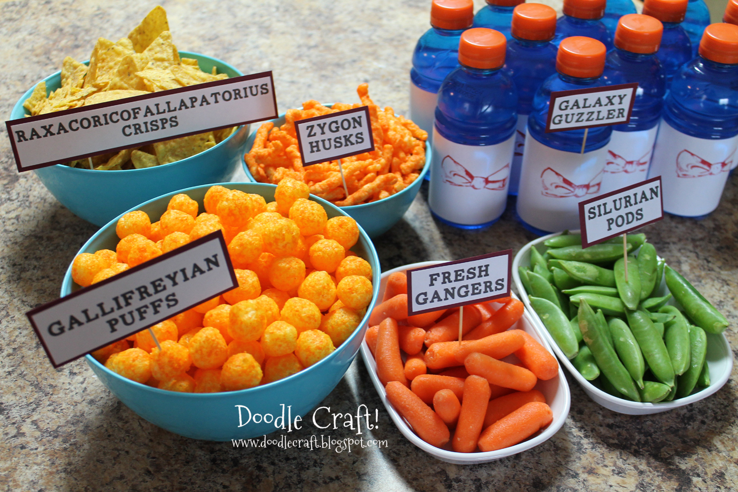doodlecraft doctor who party week food snacks recipes and treats. Black Bedroom Furniture Sets. Home Design Ideas