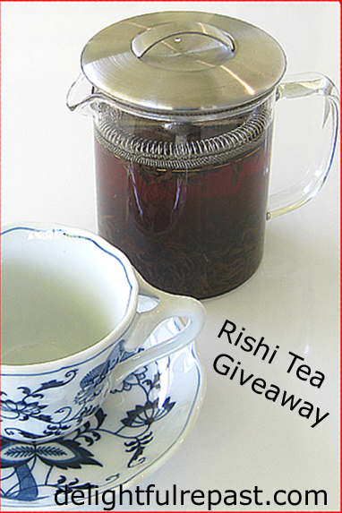 Rishi Tea & Botanicals Giveaway - and Olive Oil Apple Cake Recipe / www.delightfulrepast.com
