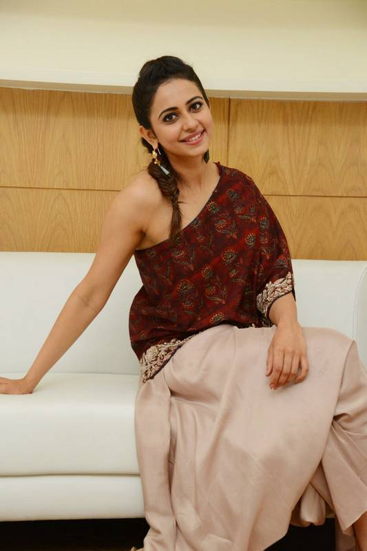 Rakul Preet Singh Latest Images In Maroon Dress