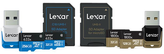 レキサー Lexar microSDカードの全種類を紹介、選び方のポイントを解説