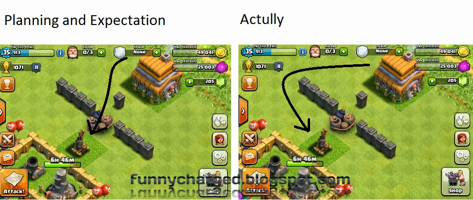 funny charged in clash of clans expectation vs reality