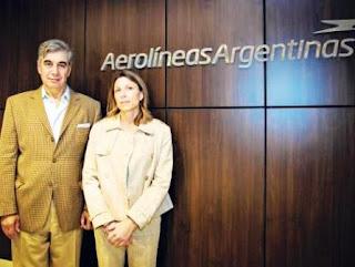 Isela Constantini junto a su sucesor, Mario Dell'Acqua, hasta ahora en Intercargo.