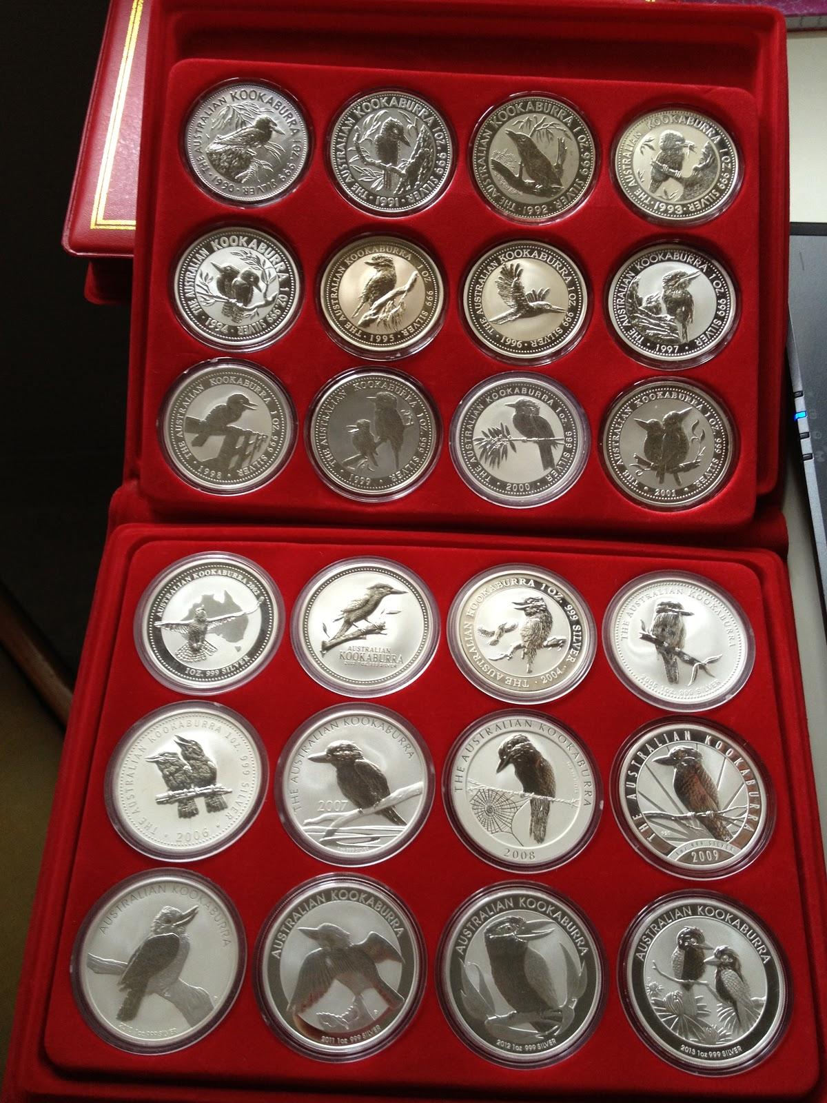 Coins Collection Australia Kookaburra Silver Coins