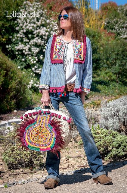 capazo strawbag beach bag boho chic ibiza indie moda gypsy  strawhandbag
