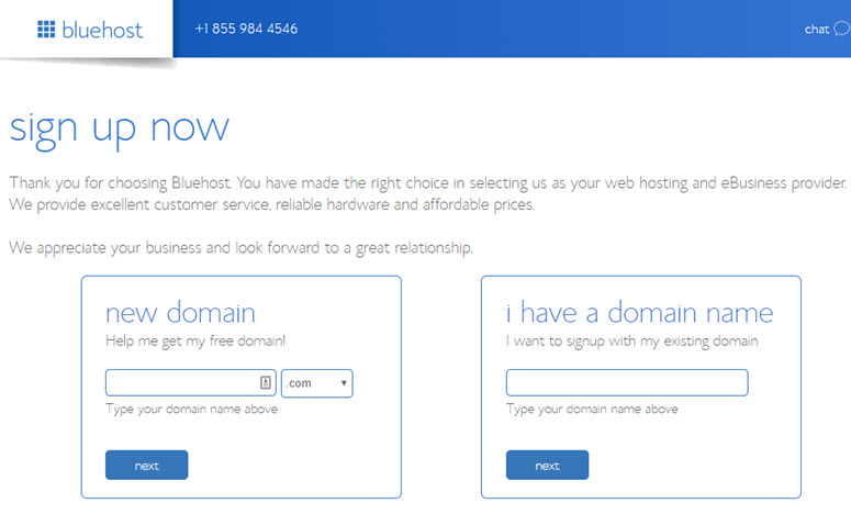Pembelian domain bluehost