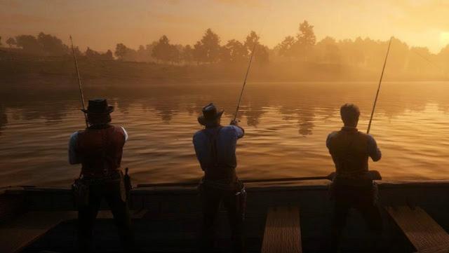 لعبة Red Dead Redemption 2 تحول اللاعبين إلى هواة صيد الاسماك ، شاهد من هنا ..
