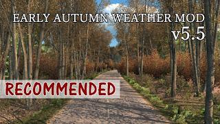 recommendedmodsets2, ets2 mods, euro truck simulator 2 mods, ets2 weather mod, ets2 early autumn, ets2 realistic weather, ets2 1.32, ets2 grimes weather mods