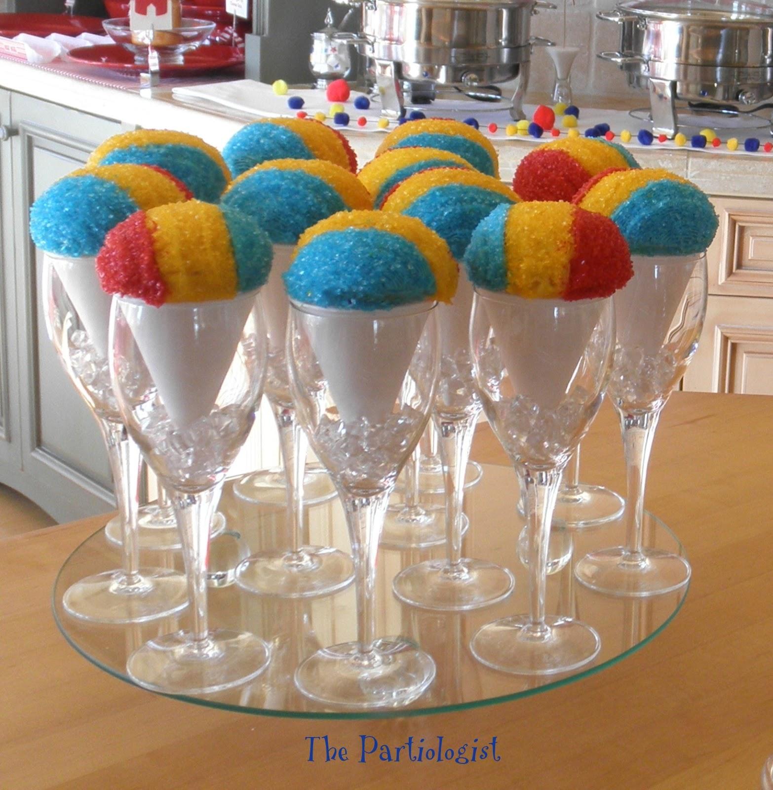 The Partiologist Sno Cone Cupcakes