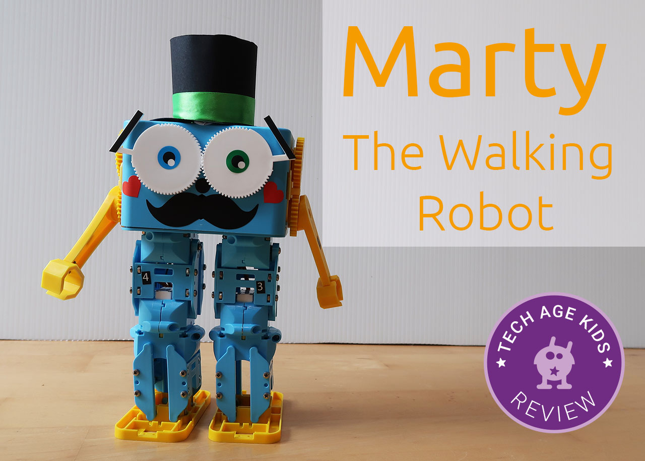 f14f0fad1 Robotical's Marty the Walking Robot Review | Tech Age Kids ...