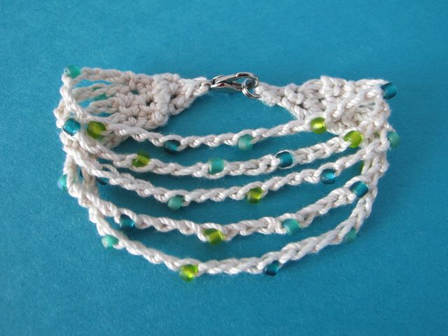 Wind Rose Fiber Studio Summer Cotton Crocheted Bracelet