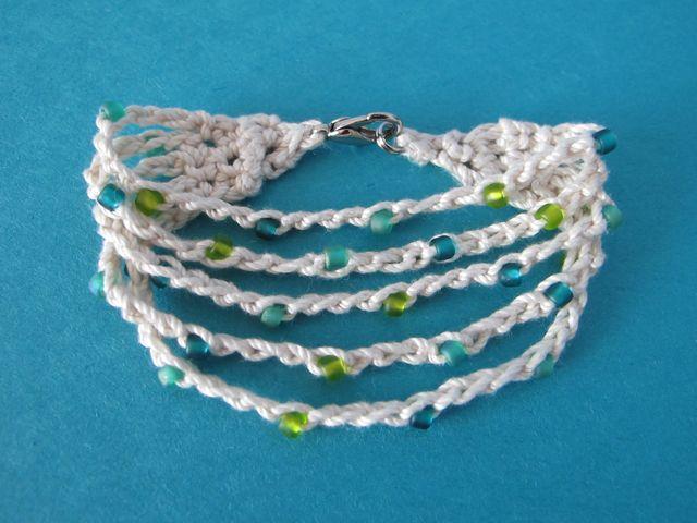crochet bracelet with beads pattern free