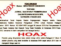 Waspada, Surat Hoax Pemberkasan Honorer K2 Diangkat Jadi PNS Beredar Dimedsos