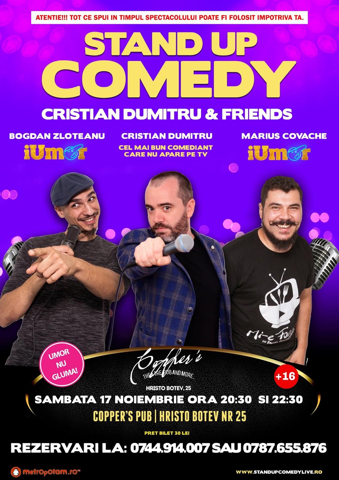 Stand-Up Comedy Bucuresti Sambata 17 Noiembrie