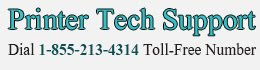 Printer Tech Support 1-855-213-4314 Customer Helpline Number