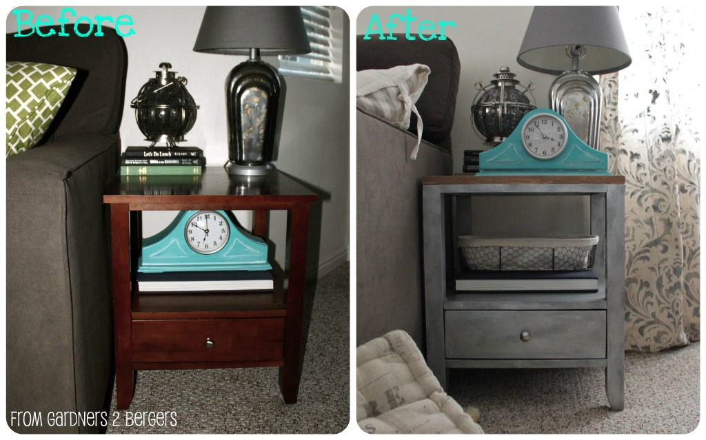 Faux-Zinc-MDF-Side-table-Makeover