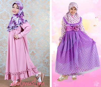 Baju Pesta Anak Perempuan Muslim Lucu