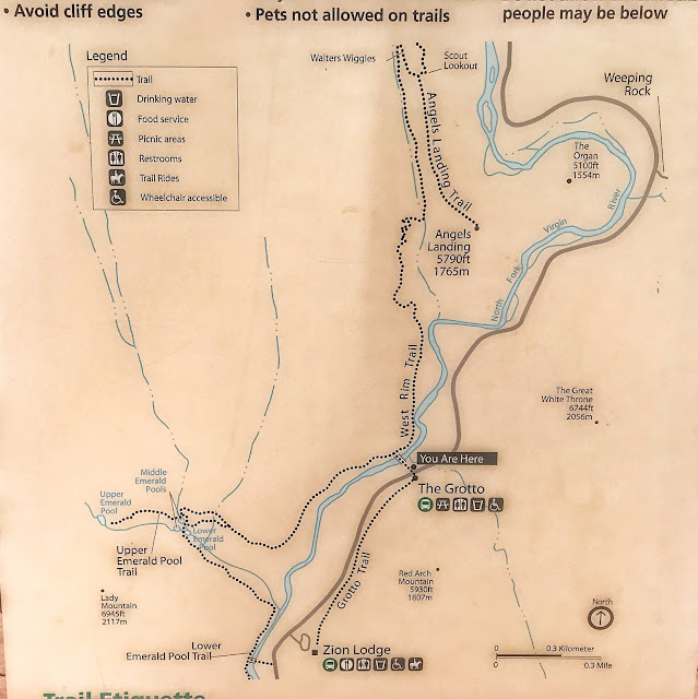 Angel's Landing trail map