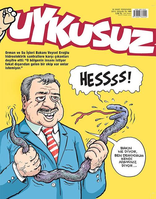 Uykusuz Dergisi - 10 Mart 2016 Kapak Karikatürü