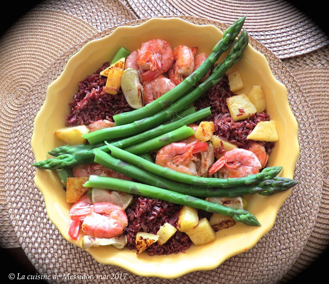 la cuisine de messidor assiette gourmande aux asperges et aux crevettes. Black Bedroom Furniture Sets. Home Design Ideas