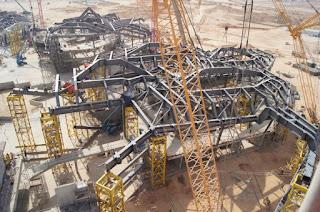 foto pemasangan kosntruksi baja gedung KAPSARC