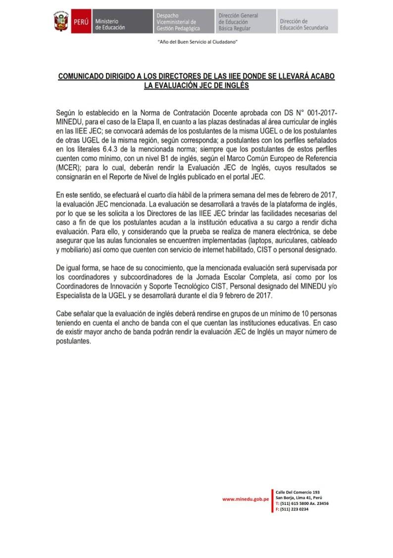 Concurso de contrataci n docente de ingl s 2017 jec for Concurso docentes 2017