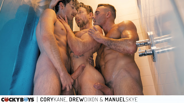 Cockyboys - Cory Kane, Drew Dixon & Manuel Skye  in a Hot & Steamy 3-way FuckFest!!!