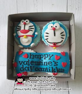 Cupcake Ulang Tahun Doraemon Fondant 2D