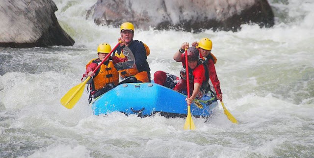 Rafting and kayaking is very much popular adventure activity in India.