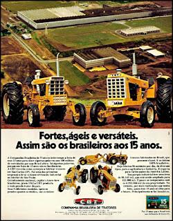 propaganda tratores CBT - 1975, Companhia Brasileira de tratores anos 70, CBT década de 70, tratores anos 70, Oswaldo Hernandez,