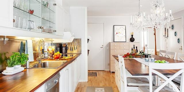 lustre na cozinha