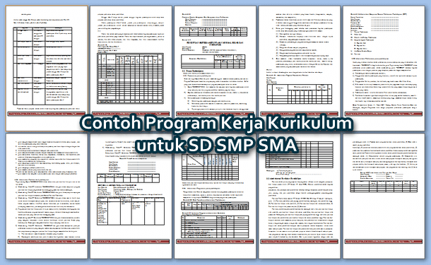 Contoh Program Kerja Kurikulum untuk SD SMP SMA
