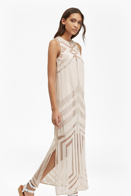 french connection mesh maxi dress