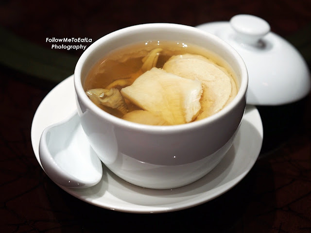 Double Boiled Dried Scallop Top Shell and Fish Maw Soup RM 55 Per Portion