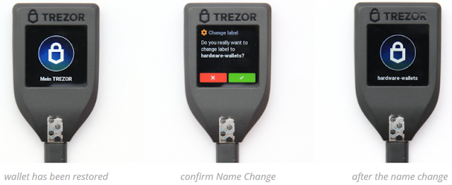 Membuat Nama Wallet Trezor Model T