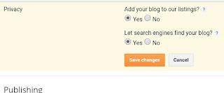 Blogger Blog Important  Settings