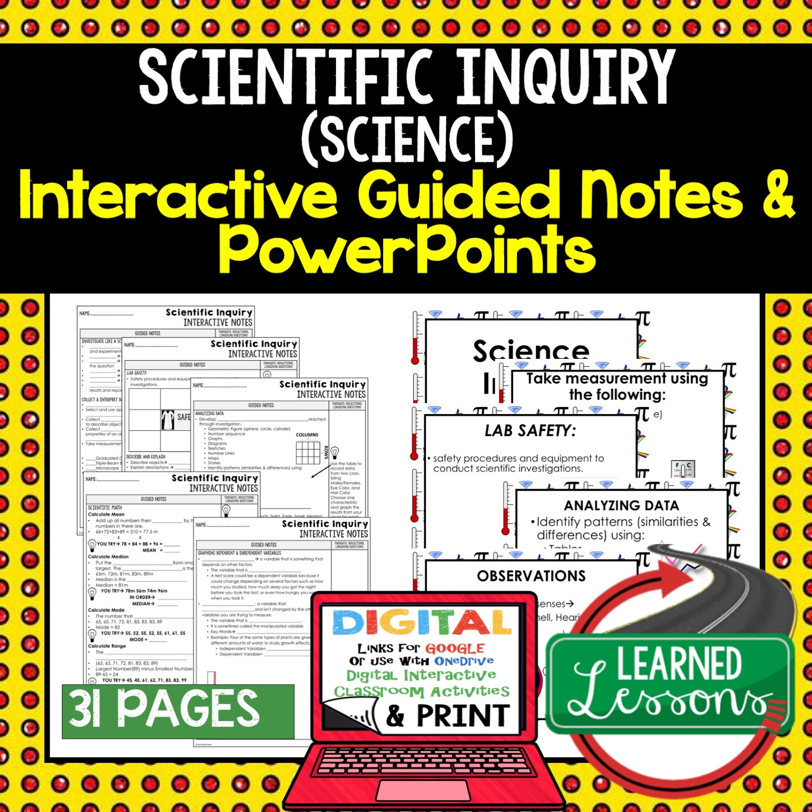 earth science guided notes and powerpoints ngss next generation science standards google and print