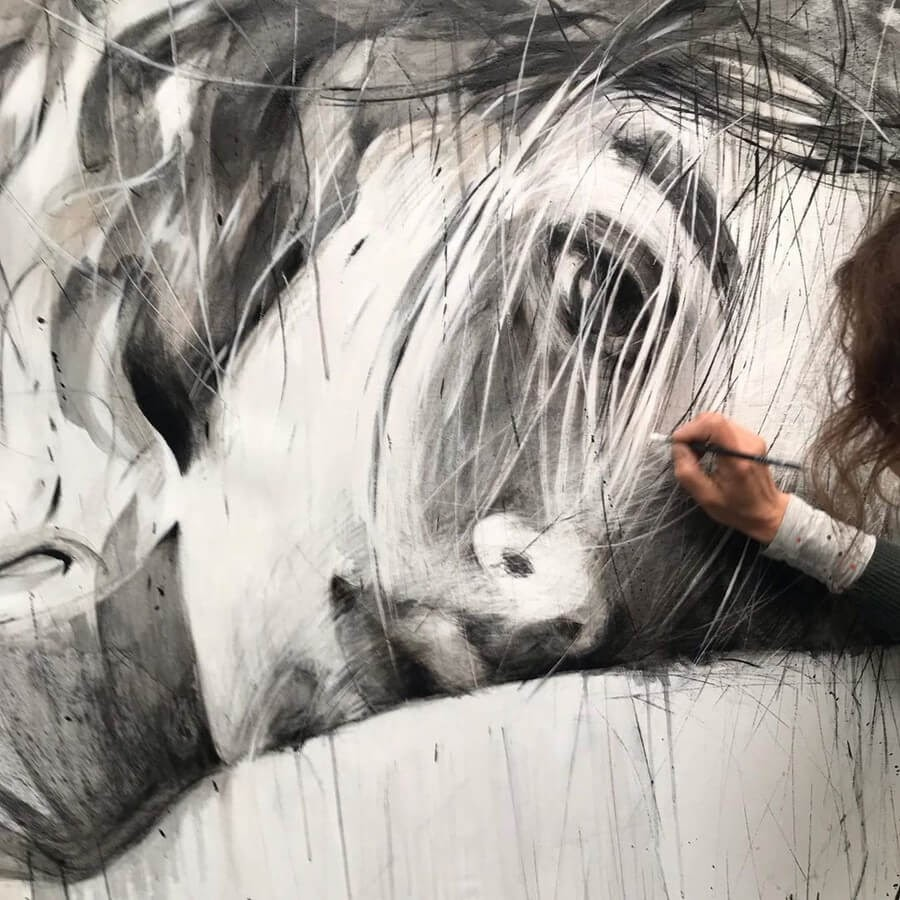 06-Large-Format-Oil-Paintings-and-Charcoal-Drawings-www-designstack-co