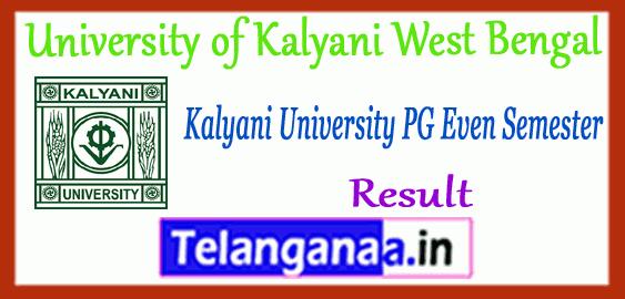 Kalyani University MA M.Sc M.Com PG 2nd 4th Semester Result